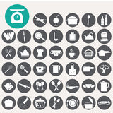 Food and kitchen icons set. Royalty Free Stock Image