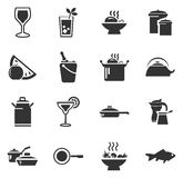 Food and kitchen icons set Stock Image