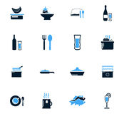 Food and kitchen icons set Royalty Free Stock Photography