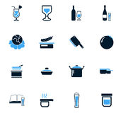 Food and kitchen icons set. Food and kitchen symbol for web icons Stock Photo
