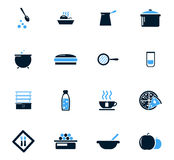 Food and kitchen icons set Stock Photo