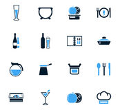 Food and kitchen icons set Royalty Free Stock Photo
