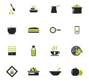 Food and kitchen icons set Royalty Free Stock Image