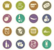 Food and kitchen icons set. Food and kitchen symbol for web icons Royalty Free Stock Image