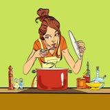 food kitchen preparing woman Στοκ φωτογραφία με δικαίωμα ελεύθερης χρήσης
