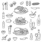 Food, kitchen related items Royalty Free Stock Photo