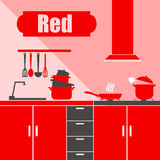 Food kitchen silhouette cooking kitchenware preparation equipment Stock Photography