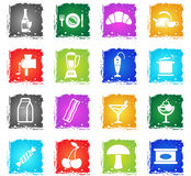 Food and kitchen simply icons Royalty Free Stock Photo