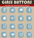 Food and kitchen simply icons Royalty Free Stock Image