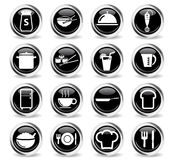 Food and kitchen simply icons Stock Images