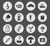 Food and kitchen simply icons Stock Photo