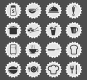 Food and kitchen simply icons Royalty Free Stock Photos