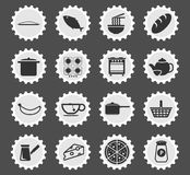 Food and kitchen simply icons Stock Image