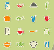 Food and kitchen simply icons Stock Photos