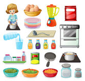 Food and kitchenware Stock Image