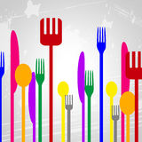 Food Knives Represents Silverware Eat And Spoons Stock Photos
