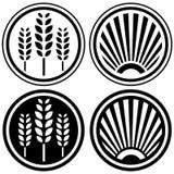 Food label design elements stock illustration