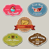 Food Label. Several label for food or restaurant Stock Photography
