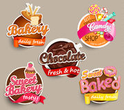 Food Label or Sticker Design Template Royalty Free Stock Photos