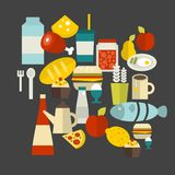 Food label. Vector illustration. Royalty Free Stock Photo
