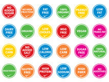 Food Labels Stock Photo