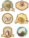 Food labels Royalty Free Stock Images