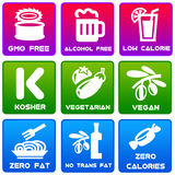 Food labels Royalty Free Stock Photography