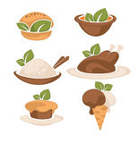 Food and leaves Royalty Free Stock Image