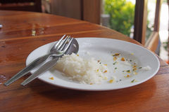 Food leftover on plate Stock Image