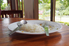 Food leftover on plate Royalty Free Stock Image