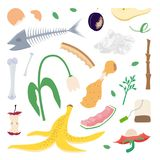 Food leftovers and garden waste. Compost. Food leftovers and garden waste. Organics. Vector illustration stock illustration
