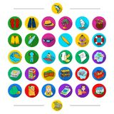 Food, leisure, ocean and other web icon in cartoon style. Cart, trade, equipment, icons in set collection. Stock Photo