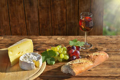 Food like in France at sunshine Stock Images