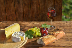 Food like in France at sunshine Stock Image