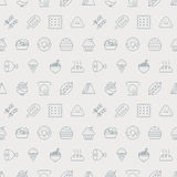 Food line icon pattern set Royalty Free Stock Images
