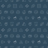 Food line icon pattern set Stock Photo