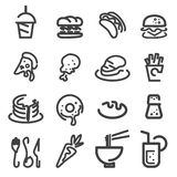 Food line icon Stock Photography