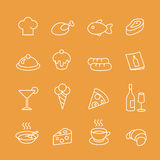 Food  line icons vector set. Royalty Free Stock Photography
