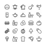 Food Line Vector Icons 4 Stock Image
