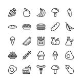 Food Line Vector Icons 6 Stock Photography