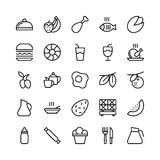 Food Line Vector Icons 7 Stock Images