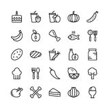 Food Line Vector Icons 9. Stay healthy, so don`t forget your nutritious food! Just make your designs delicious with this Food Line Vector Icons Set Royalty Free Stock Photography