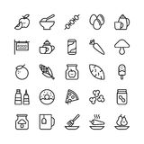 Food Line Vector Icons 12. Stay healthy, so don`t forget your nutritious food! Just make your designs delicious with this Food Line Vector Icons Set royalty free illustration