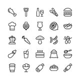 Food Line Vector Icons 13. Stay healthy, so don`t forget your nutritious food! Just make your designs delicious with this Food Line Vector Icons Set Stock Illustration