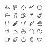 Food Line Vector Icons 14 Royalty Free Stock Images