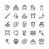 Food Line Vector Icons 15. Stay healthy, so don`t forget your nutritious food! Just make your designs delicious with this Food Line Vector Icons Set vector illustration