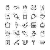 Food Line Vector Icons 17. Stay healthy, so don`t forget your nutritious food! Just make your designs delicious with this Food Line Vector Icons Set Stock Image