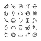 Food Line Vector Icons 16 Stock Photography