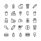Food Line Vector Icons 21 Stock Photos