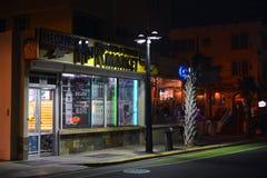 Food & Liquor Market in San Juan at night Stock Photo